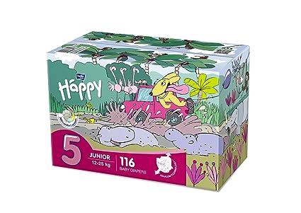 Bella Baby Happy pañales Junior tamaño 5 (12 – 25 Kg), 116 unidades