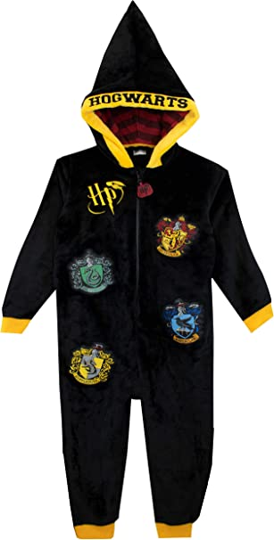 Harry Potter Ravenclaw Hooded All In One Pyjama Jumpsuit Loungewear boys girls