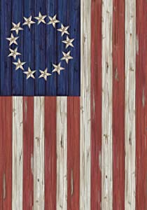 """Briarwood Lane Betsy Ross Flag Patriotic Garden Flag Rustic 4th of July 12.5"""" x 18"""""""
