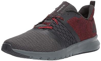 7e82e7339c3 Reebok Men s Print LITE Rush Sneaker Coal Alloy Primal red White 7 M