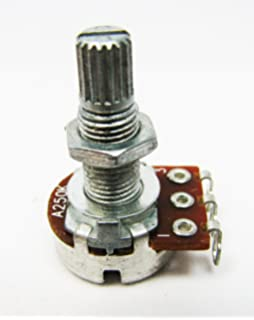2-pack 250K Long-Shaft Audio-Taper Guitar Volume Potentiometers