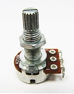 2-pack 250K Long-Shaft Audio-Taper Guitar Volume Potentiometers