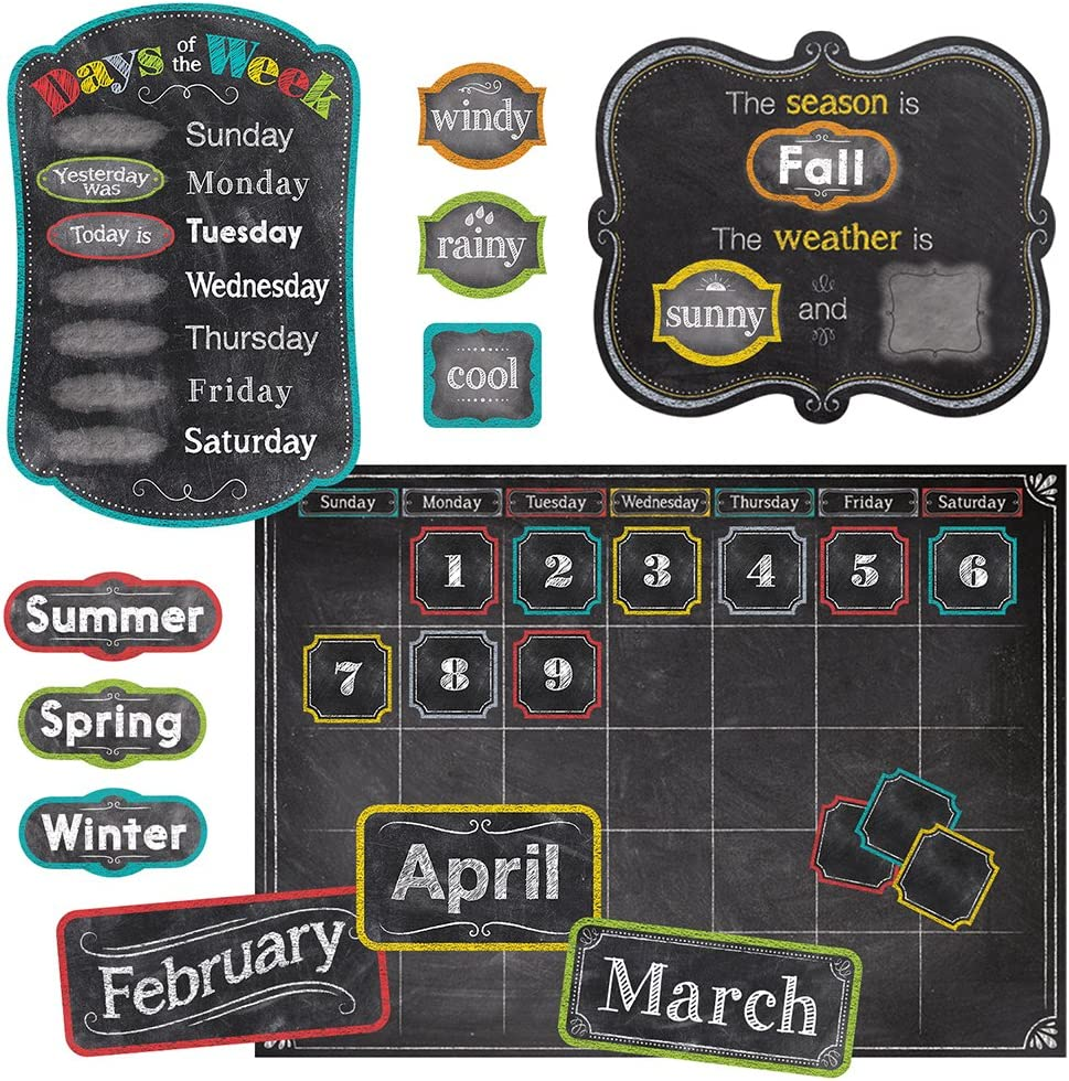 Creative Teaching Press Chalk It Up! Calendar Set Bulletin Board (4728)