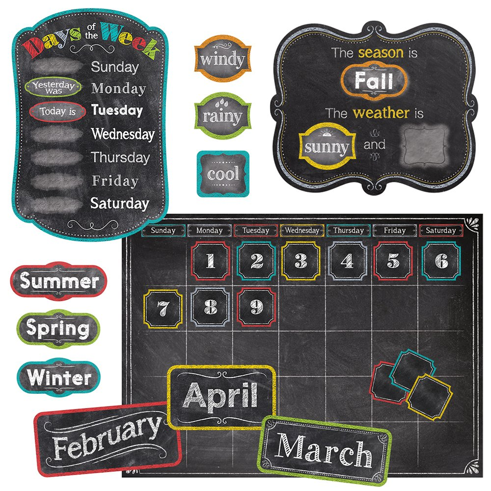 Creative Teaching Press Chalk It Up! Calendar Set Bulletin Board (4728) by Creative Teaching Press