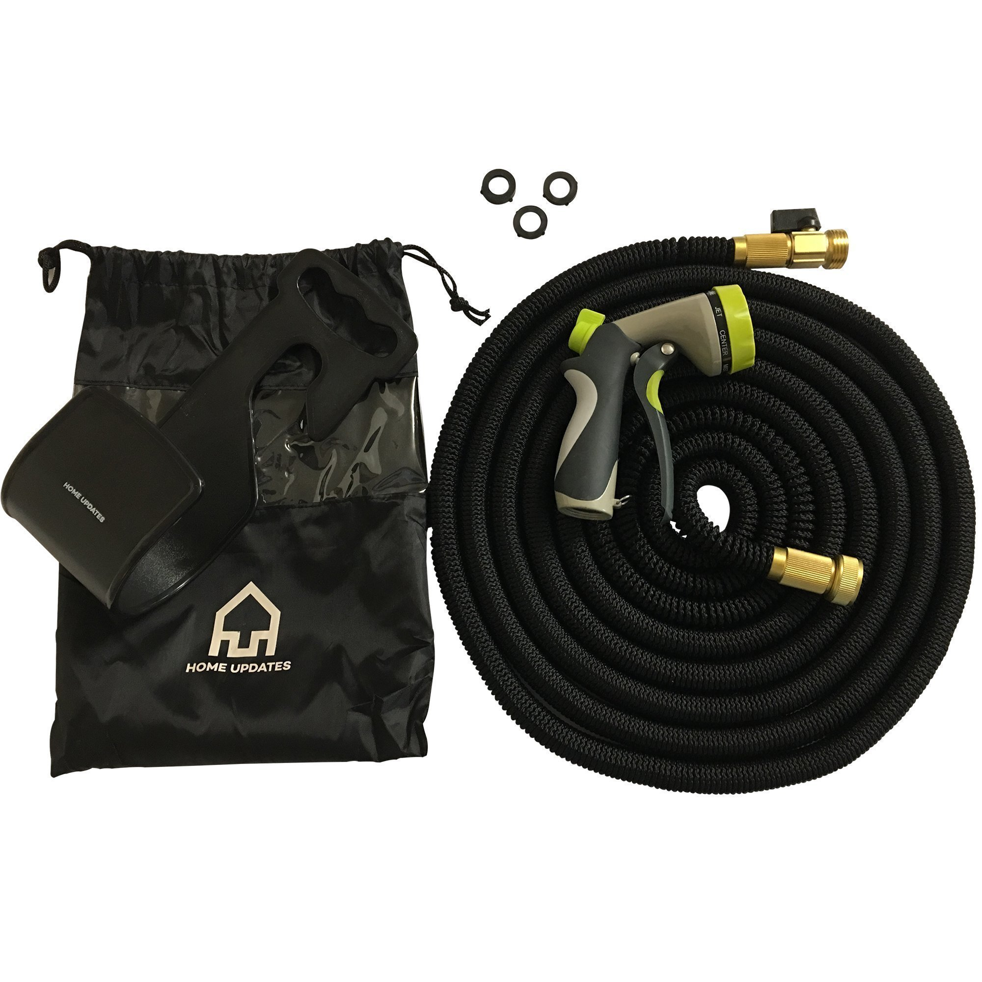 Home Updates Premium Expandable Garden Hose By Lightweight & Heavy Duty Flexible Water Hose | Kink Free & Space Saving Expanding Hose | 8-Pattern Powerful Sprayer & Storage Bag | 50ft