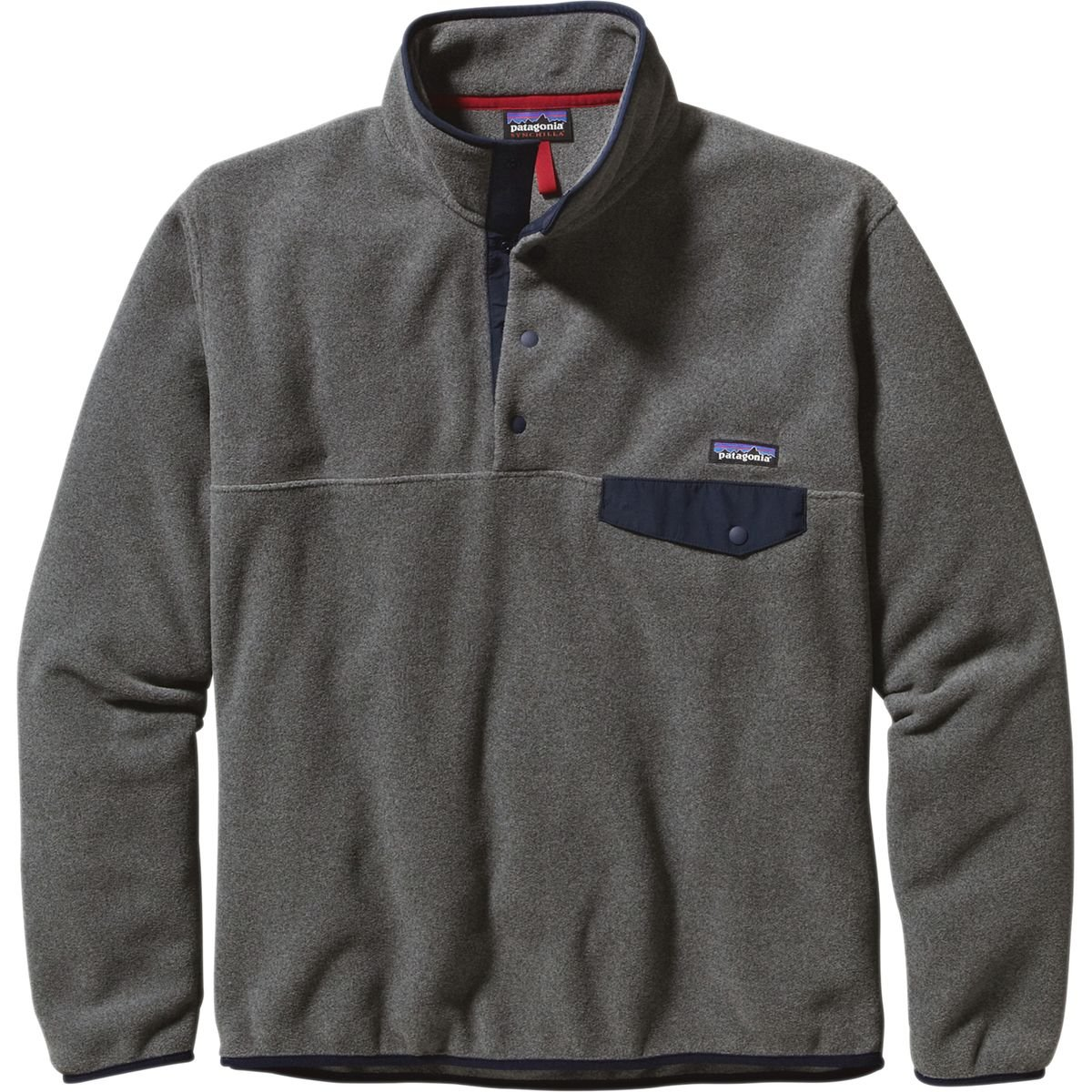(パタゴニア)patagonia フリース Ms LW シンチラスナップT P/O 25580 [メンズ] B00OZGY8OO XX-Large|Nickel/Navy Blue Nickel/Navy Blue XX-Large