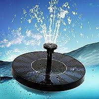Aidodo Fuente Solar 2020, Upgrade, bomba solar para estanque con 5 efectos, bomba de agua solar, bomba flotante para estanques de jardín o fuente, depósito de peces
