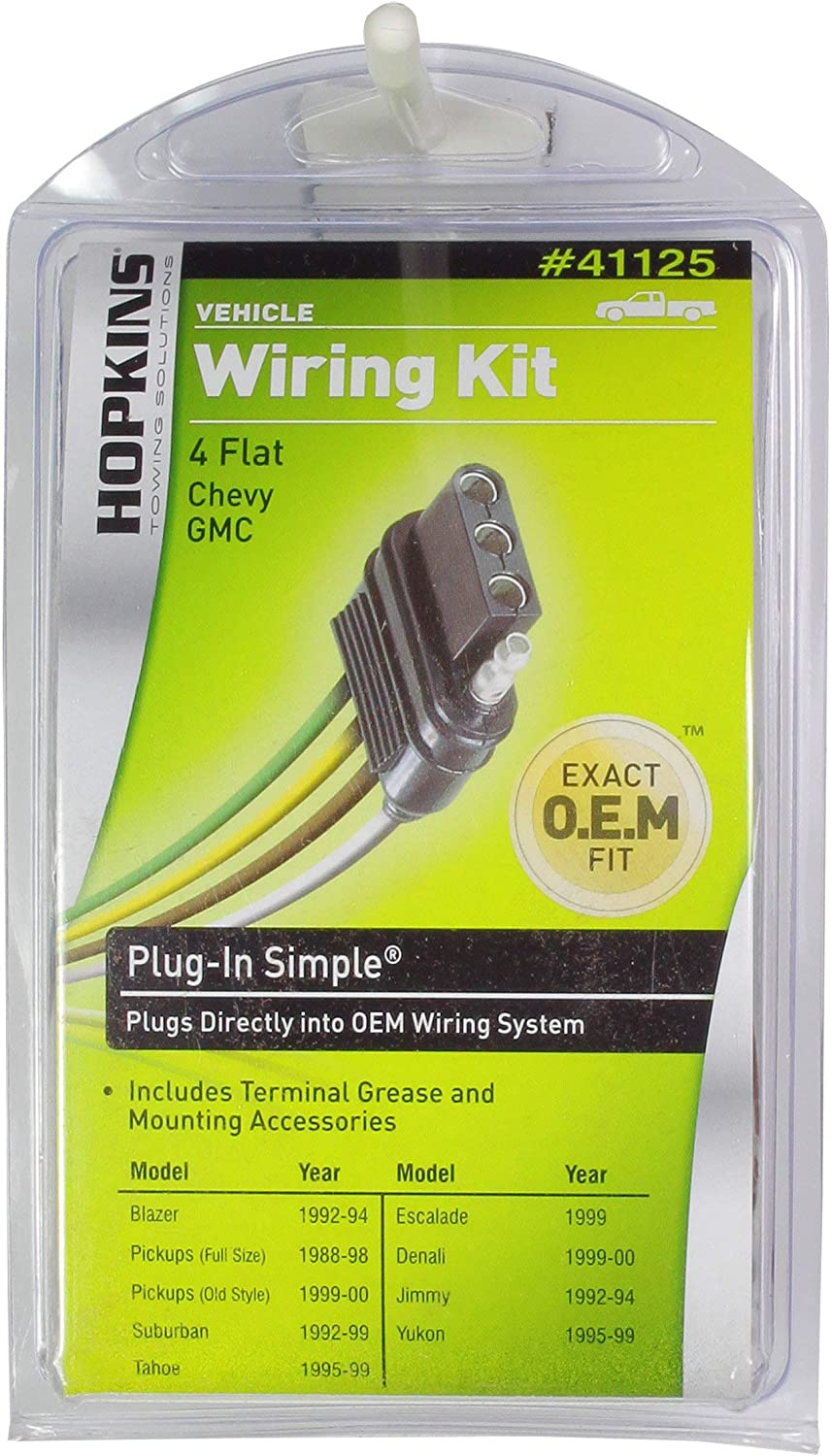 Amazon Com Hopkins 41125 Plug In Simple Vehicle Wiring Kit Automotive