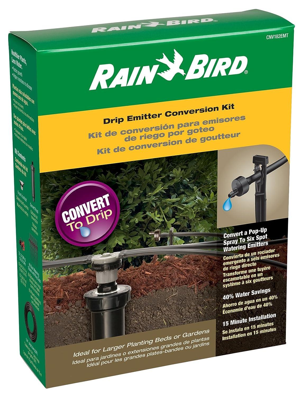 "Rain Bird CNV182EMS Drip Irrigation Sprinkler Conversion Kit, 1800 Series Pop-Up to 6 Drip Emitters with 1/4"" Tubing"