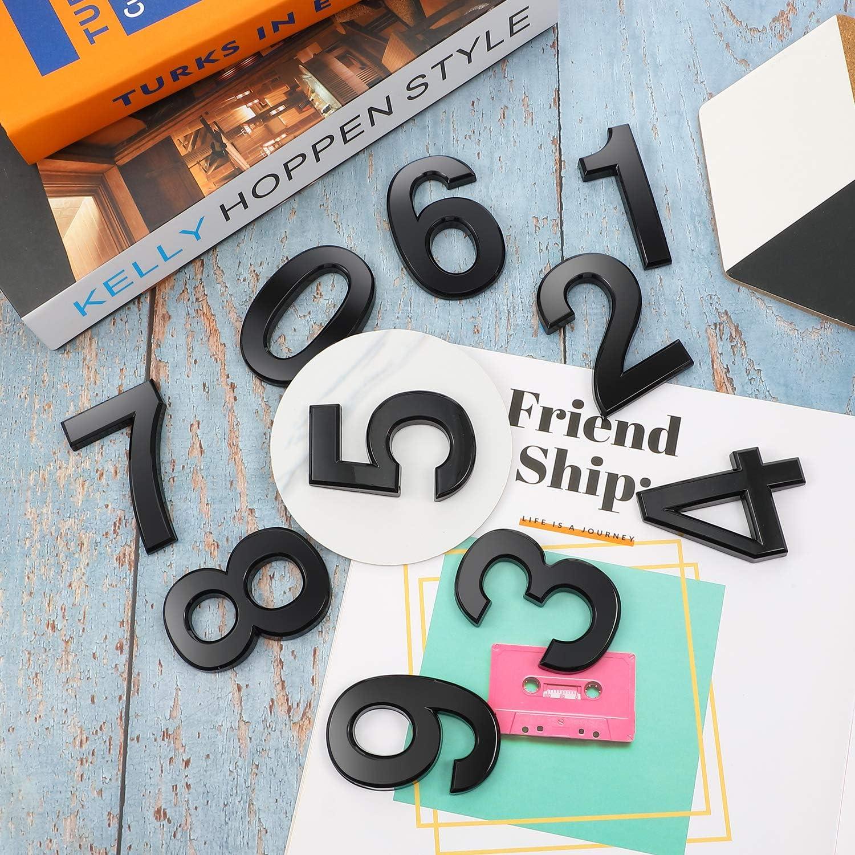 20 St/ück 2 Zoll Mailbox Nummer 0-9 Adresse Nummern Selbstklebend T/ür Nummer Reflektierend Mailbox Nummer f/ür Haus Mailbox Gold