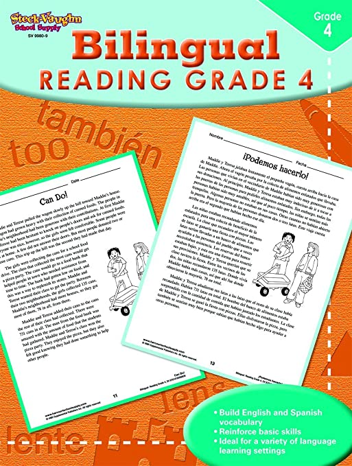 Workbook 4th grade spanish worksheets : Steck-Vaughn Bilingual: Reproducible Reading Third Grade: STECK ...