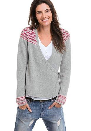 e3d84240 Ellos Women's Plus Size Embroidered Wrap Cardigan at Amazon Women's ...