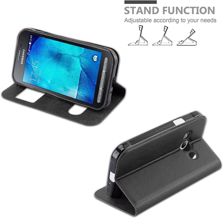 View Etui Poche Folio Case Cover Housse Protection avec Stand Horizontal Cadorabo Coque pour Samsung Galaxy XCOVER 3 en Turquoise Menthe Fente Carte et Deux Fen/êtres