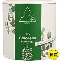 ingenious nature® Laborgeprüfte Bio Chlorella Presslinge - 3 Monats Vorrat - ohne Zusätze - 600 Presslinge je 500mg (6.5€/100g)
