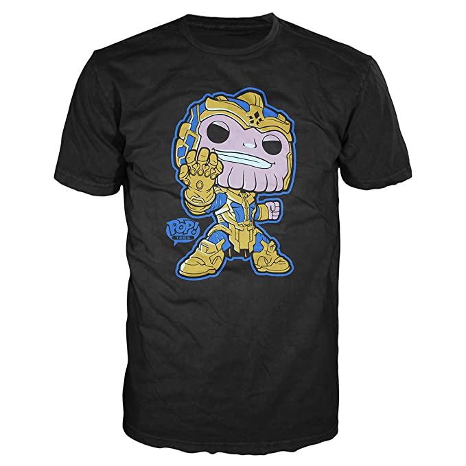 Funko POP Tee Marvel Comics Guardians Of The Galaxy Thanos Graphic T-Shirt (Medium