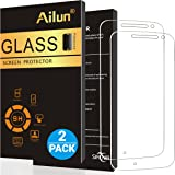 Moto G4 Screen Protector,[2Packs]by Ailun,9H Hardness,Ultra Clear,Anti-Scratch,Case Friendly,Tempered Glass for Moto G4 ONLY,NOT for Moto G4 Plus,Moto G4 Play,Moto Z Play,LG G4-Siania Retail Package