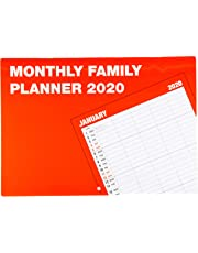 2020 Family Organiser Monthly Planner Wall Calendar - High Quality Matte Finish