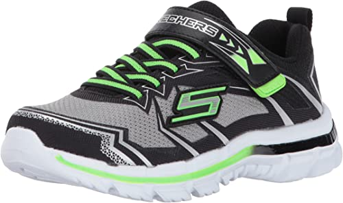 NEW SKECHERS NITRATE KIDS//BOYS LACE UP ATHLETIC MEMORY FOAM SNEAKERS