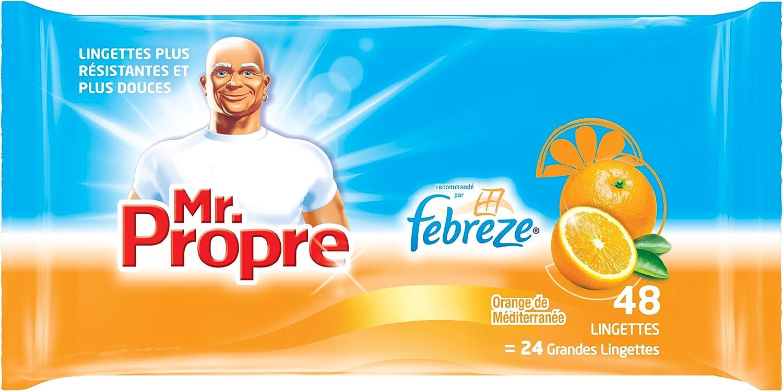 Mr Propre Lingettes Nettoyantes Parfum Orange de M/éditerran/ée x 48 Lot de 6