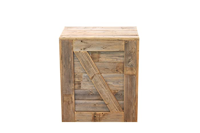 Amazon Com Natural Crate Side Table Handmade