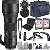 Sigma 150-600mm 5-6.3 Contemporary DG OS HSM Lens for Nikon DSLR Cameras + Sigma USB Dock with Altura Photo Complete Accessor