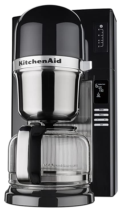 Amazoncom Kitchenaid Kcm0802ob Pour Over Coffee Brewer Onyx Black