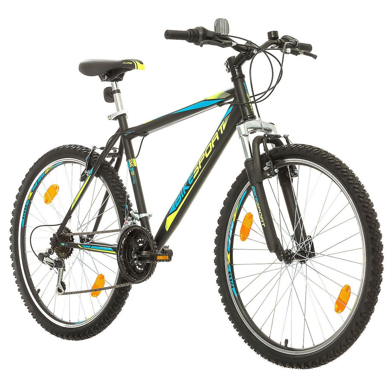 BIKE SPORT LIVE ACTIVE Bikesport Thunder 26 Zoll Fahrrad Mountainbike Herren-Fahrrad Jungen-Fahrrad Shimano 18 Gang