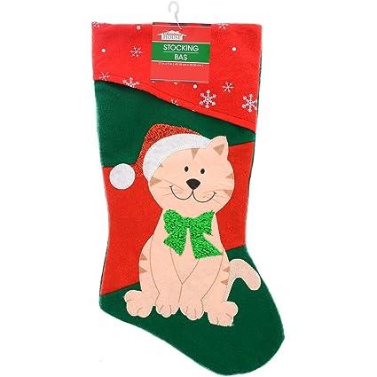73bfcac9c Amazon.com   Pets Christmas Stocking Dog or Cat Your Choice (Cat ...