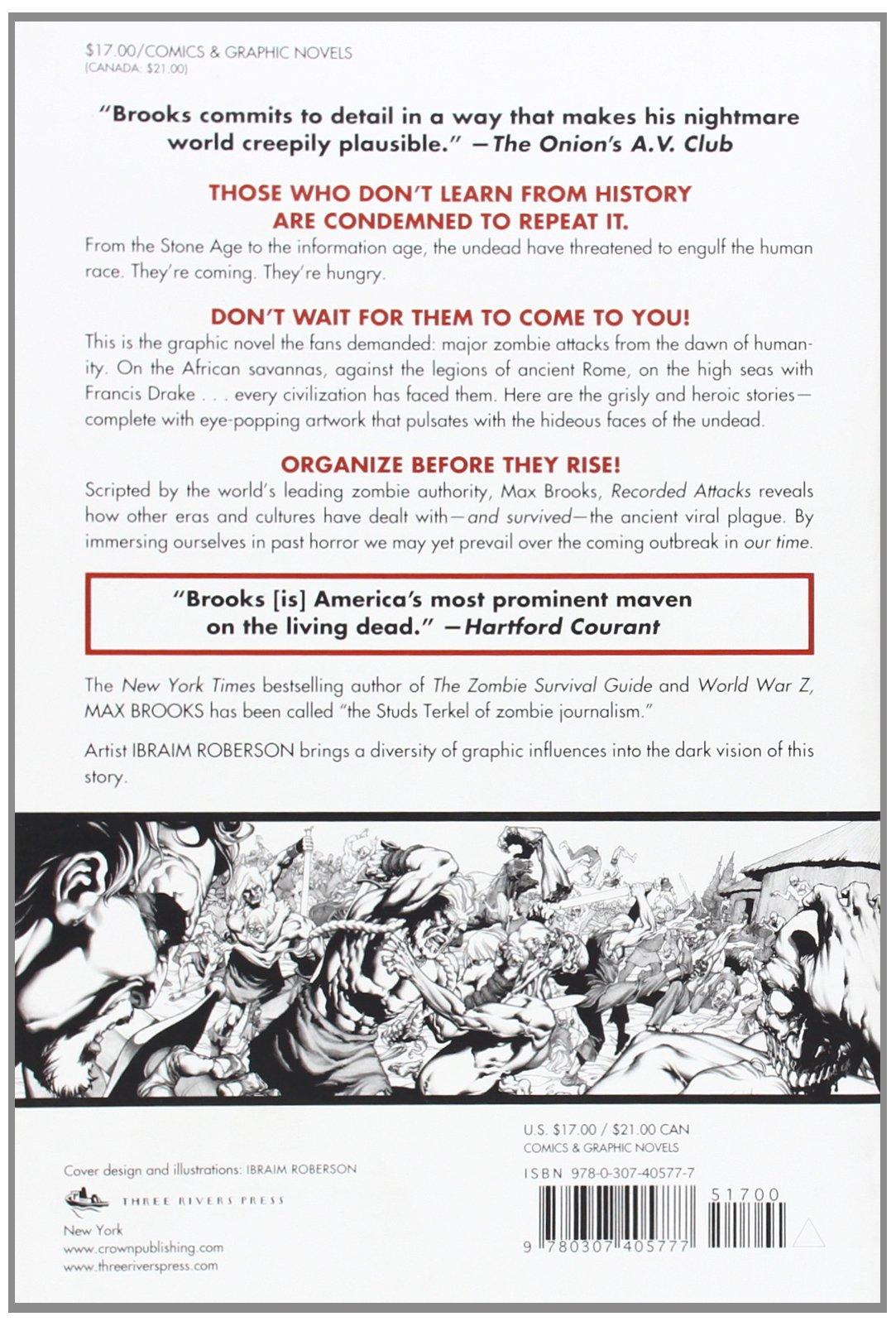 The Zombie Survival Guide: Recorded Attacks: Max Brooks, Ibraim Roberson:  9780307405777: Amazon.com: Books