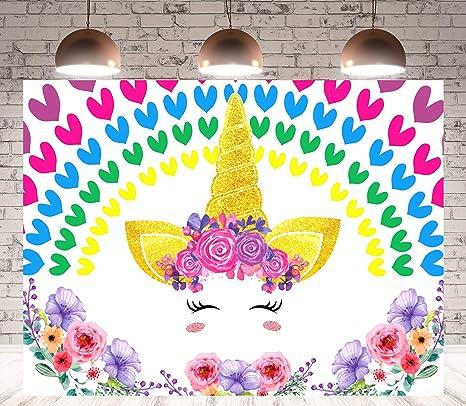 LeTime - Telón de Fondo con diseño de Unicornio y arcoíris ...