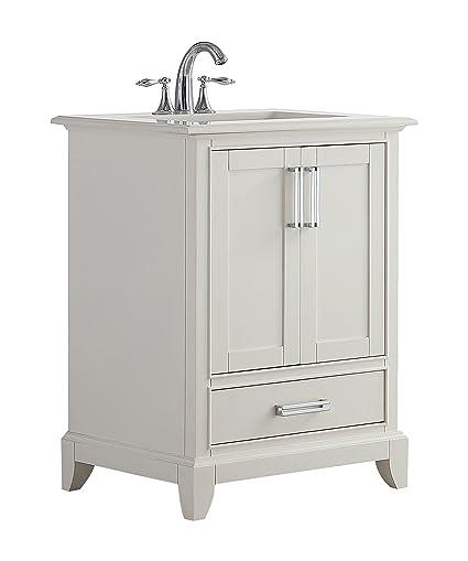 Simpli Home AXCVGNW-24 Elise 24 inch Traditional Bath Vanity ...