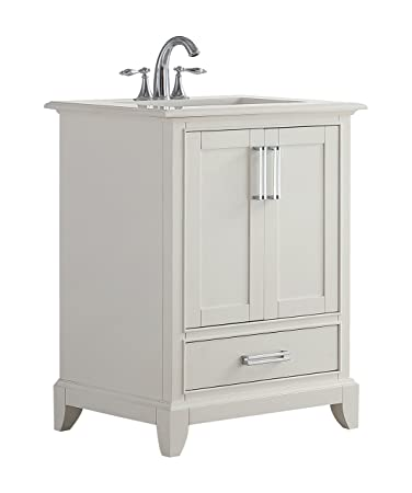 Simpli Home Axcvgnw 24 Elise 24 Inch Bath Vanity In Soft White With