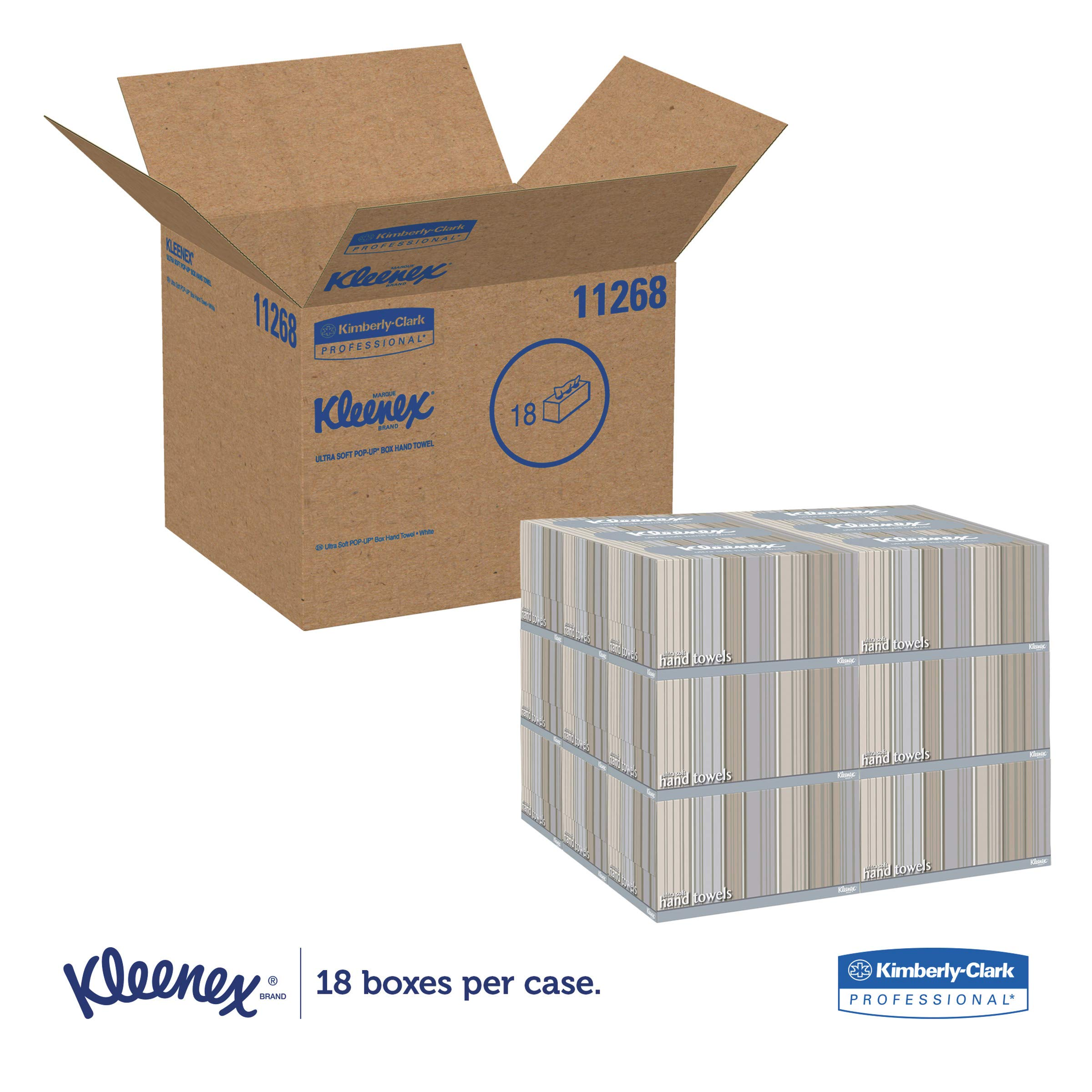 Kleenex 11268CT Ultra Soft Hand Towels, POP-UP Box, White, 70 per Box (Case of 18 Boxes) by Kleenex (Image #2)
