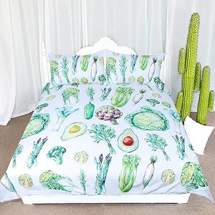 arightex planta naturaleza Vintage color juego de colcha de cama de funda de edredón 3 piezas