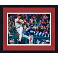 "$89 » Framed Scott Kingery Philadelphia Phillies Autographed 8"" x 10"" Throwing Photograph - Fanatics Authentic Certified"
