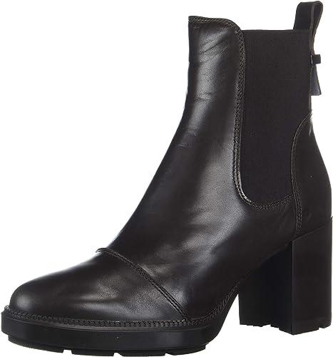 Ivory Calf Elastic Ankle Boot, Espresso