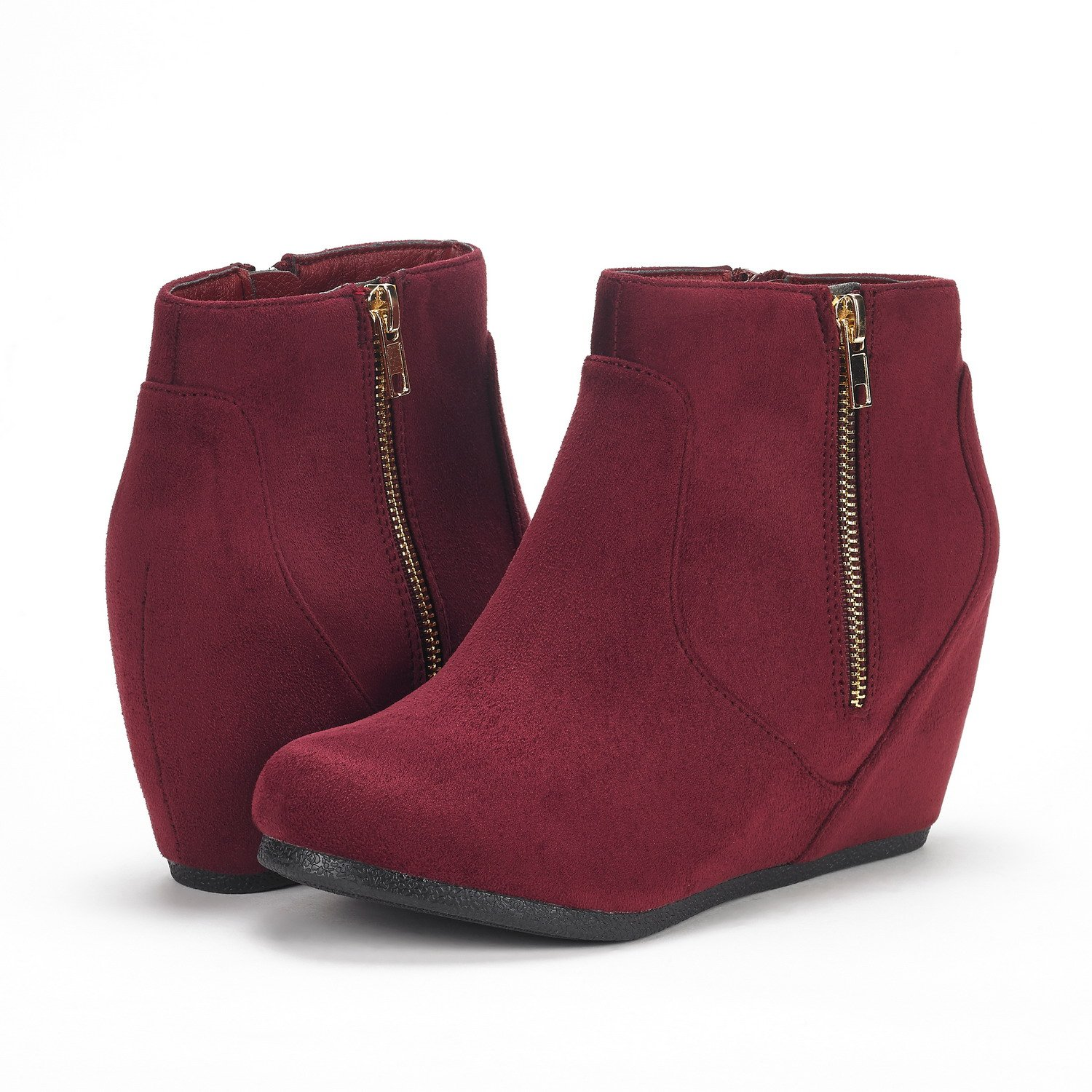 6c33d486f Amazon.com | DREAM PAIRS Women's NARIE-New Suede Low Wedges Ankle Boots |  Ankle & Bootie