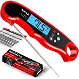 Digital Instant Read Meat Thermometer - Waterproof Kitchen Food Cooking Thermometer with Backlight LCD - Best Super Fast Elec