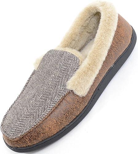 ABSOLUTE FOOTWEAR Mens Slip on Slippers//Flat Mules//Indoor Shoes