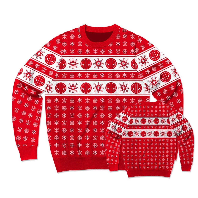 Medium Marvel Deadpool Pool Flakes Ugly Christmas Sweater