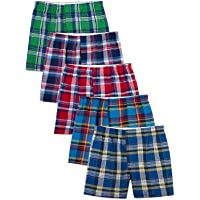 Fruit of the Loom Men's Woven Tartan and Plaid Boxer Multipack (XXX-Large, Assorted Tartan)