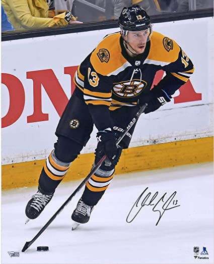 Fanatics Authentic Certified Charlie Coyle Boston Bruins Autographed 16 x 20 Black Jersey Skating Photograph