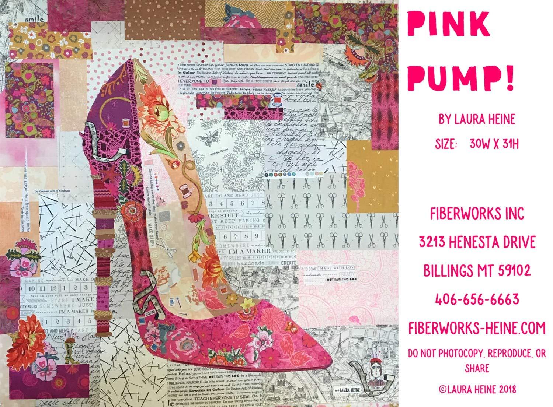 Pink Pump Quilt Pattern by Laura Heine Fiberworks-Heine