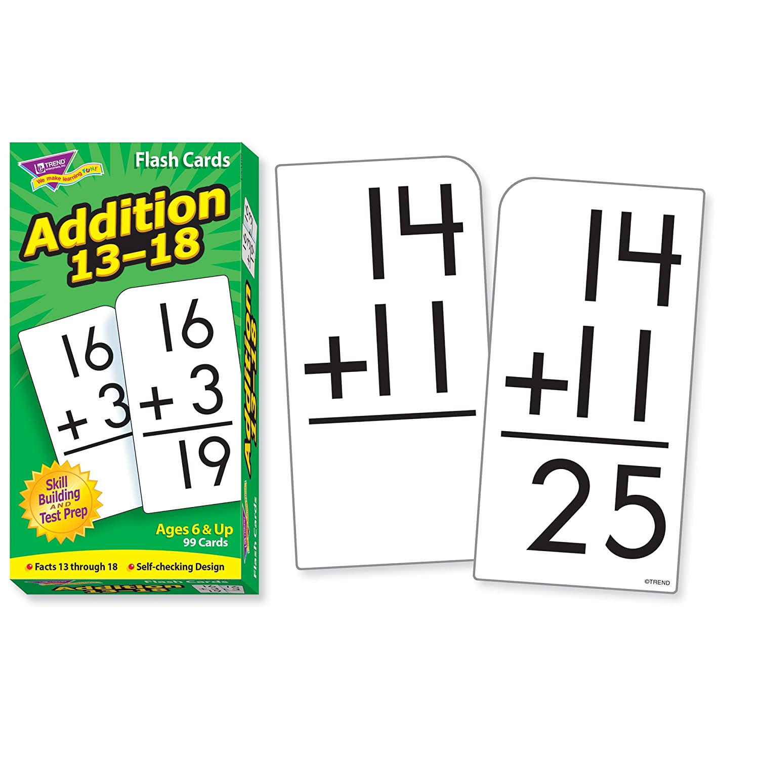 worksheet Addition Flash Cards amazon com skill drill flash cards addition 13 18 toys games