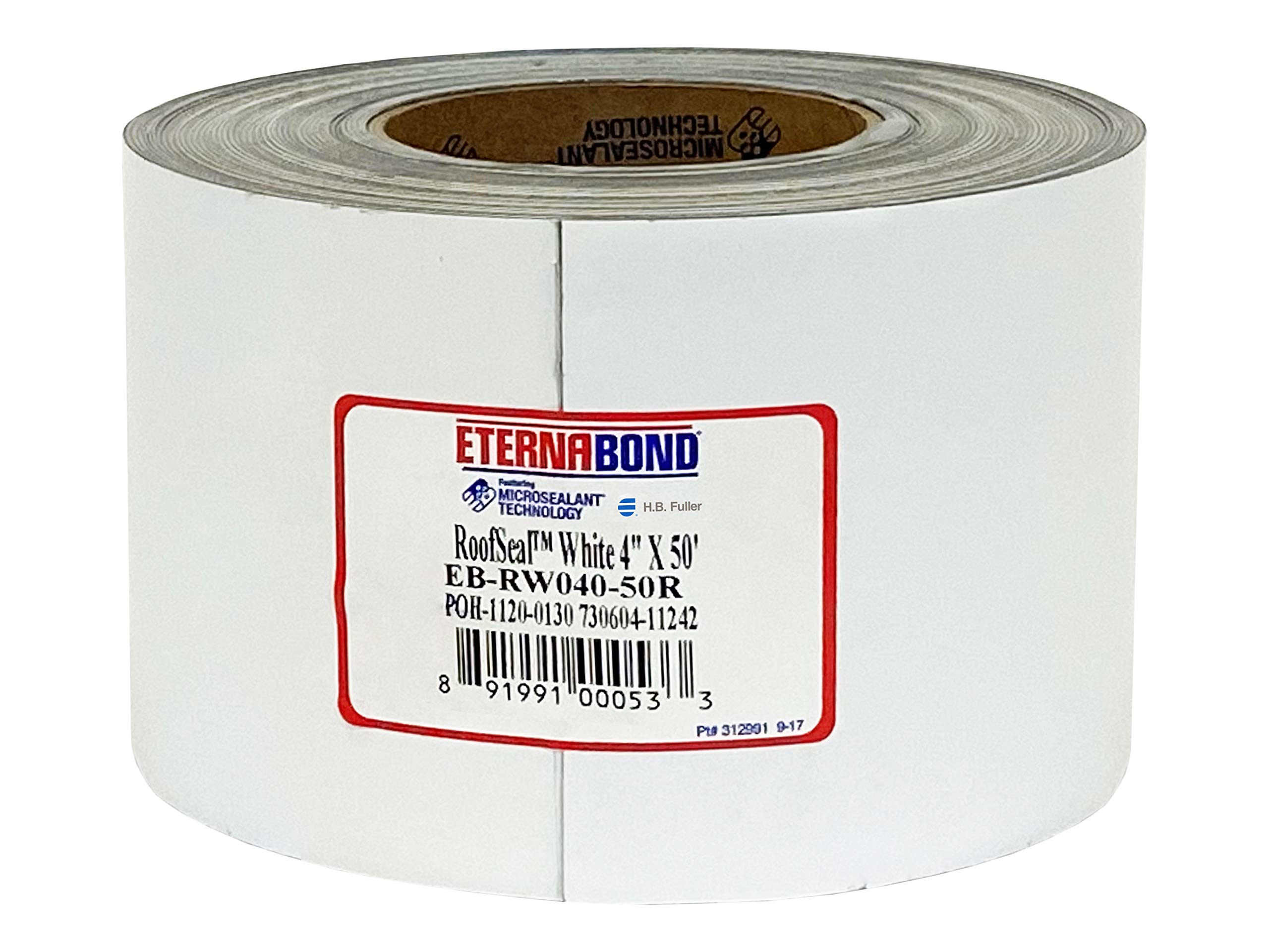 """EternaBond RoofSeal White 4"""" x50' MicroSealant UV Stable Seam Repair Tape 