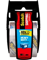 Scotch Heavy Duty Shipping Packaging Tape with Dispenser, 1.5 in Core, 1.88 in. x 800 in., Clear, 1 Dispenser/Pack (142-BL)