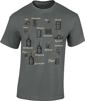 Camiseta: como Hacer Cerveza/T-Shirt en aleman/Alemania/Cerveza/Beer /Birra/Oktoberfest/Cervecería/Cerveza Artesanal/Craft-Beer/Fun-Shirt - Humor: Amazon.es: Ropa y accesorios