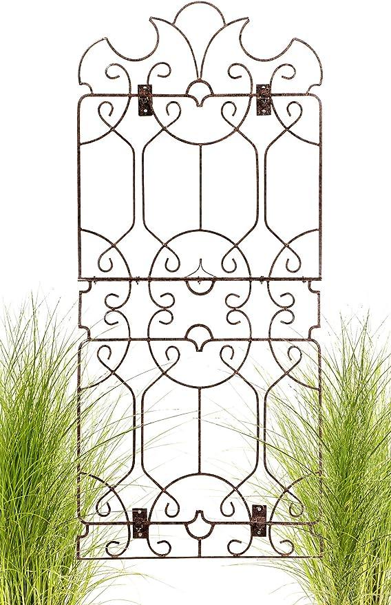 H Potter Enrejado de jardín para Plantas trepadoras de Hierro Forjado al Aire Libre Panel de Pared para viñas Flores: Amazon.es: Jardín
