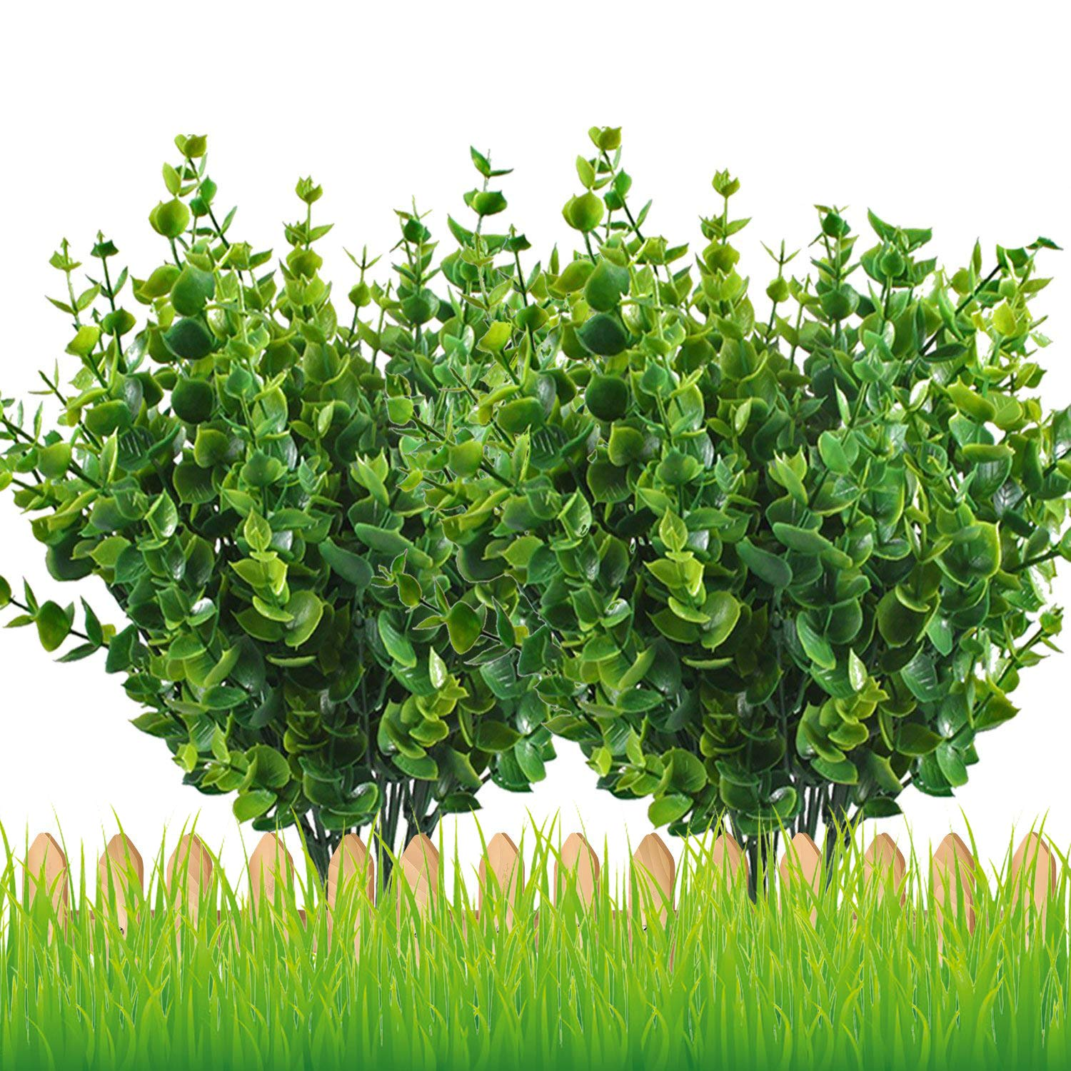 Newstart Artificial Shrubs Lifelike Fake Greenery Plants Flowers