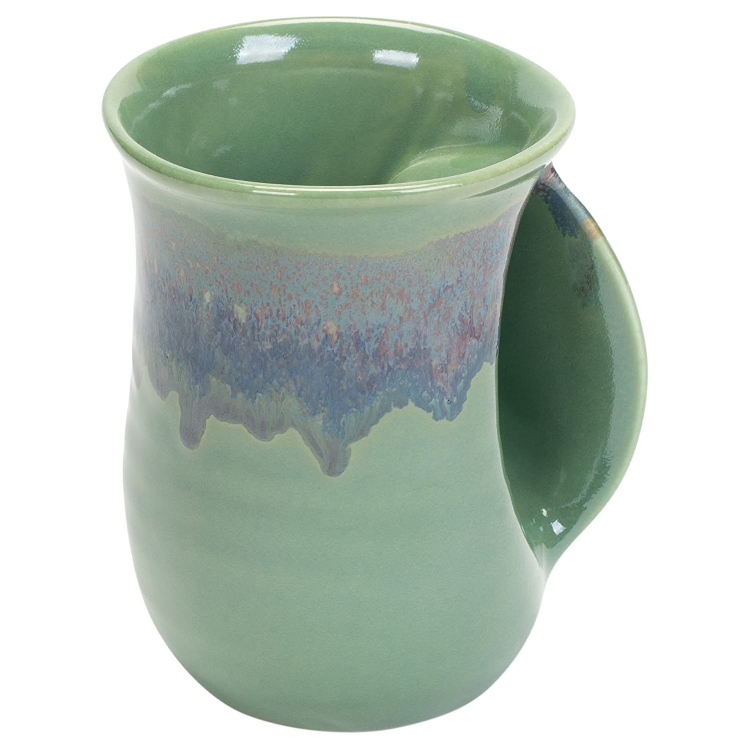 Clay in Motion Handwarmer Mug - Misty Green - Right Handed